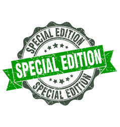 Special edition stamp sign seal vector
