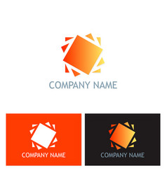 square frame spin logo vector image