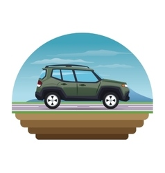 Suv vehicle and transportation design vector
