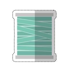 Thread roll isolated icon vector