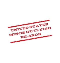 United states minor outlying islands watermark vector