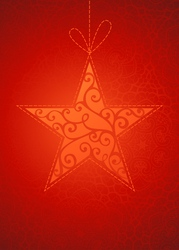 Vintage star on red background vector image vector image