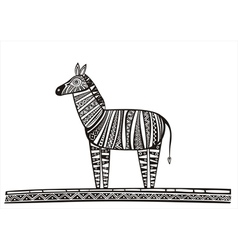 Zebra black vector