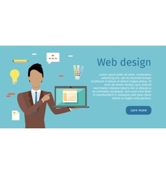 Web design web banner in flat style vector