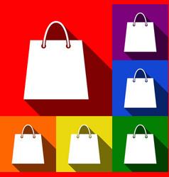 shopping bag set of icons vector image