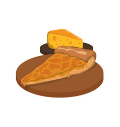 Pizza slice cheese vector