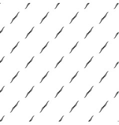 Throwing ninja knife pattern vector