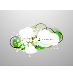 Clouds technology design vector