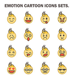 Emotion icon vector