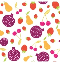 Fun colorful fruit seamless pattern vector