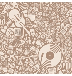 Background of the music icons vector