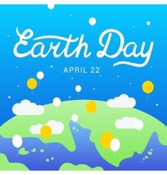 Earth day lettering calligraphy 22 april vector