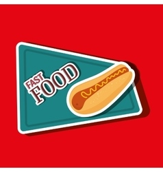 Fast food offer design vector