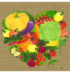 Vegetable heart vector