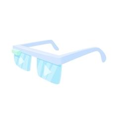 Smart glasses icon cartoon style vector