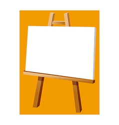 A view of an easel vector