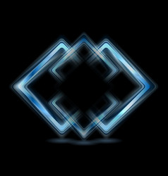 Abstract blue squares logo vector image