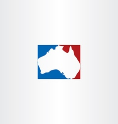 Australia logo map icon vector