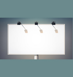 blank commercial horizontal billboard vector image