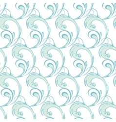 Blue Green Abstract Waves Swirls Seamless vector image
