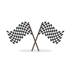 checkered flag isolated icon vector image vector image