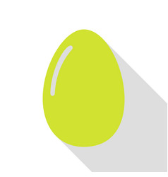 Chiken egg sign pear icon with flat style shadow vector