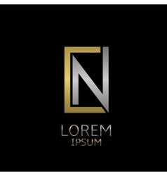 Cn letters logo vector