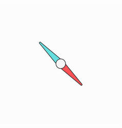compass creative symbol concept flat thin line vector image