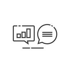 data analytics icon line outline analyzing vector image vector image