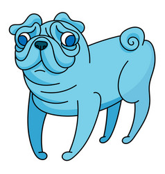 Fantasy little pug vector