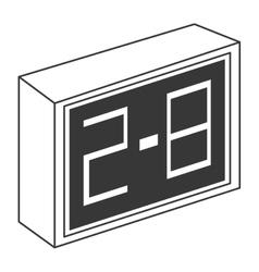 Grey scoreboard icon vector
