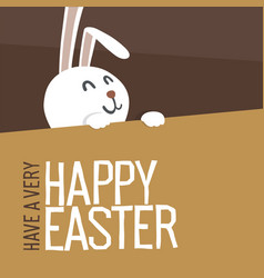 Happy easter everyone easter bunny vector