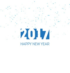 Happy new year 2017 greeting card design template vector
