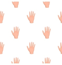 High five icon in cartoon style isolated on white vector image vector image