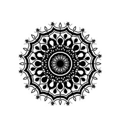monochrome abstract flower mandala vintage vector image vector image