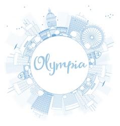 Outline Olympia Washington Skyline vector image vector image