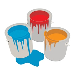 Paint cans vector