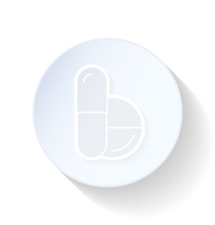 Pills thin lines icon vector image vector image