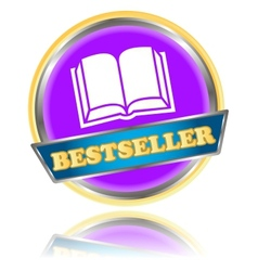 Purple bestseller icon vector