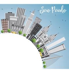 Sao Paulo Skyline with Gray Buildings vector image