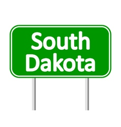 South dakota green road sign vector