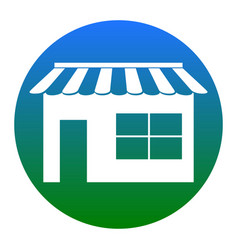Store sign white icon in vector