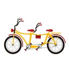 Tandem bicycle vector image