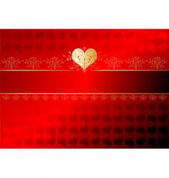 valentines ribbon vector image vector image