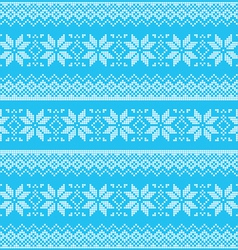 Winter Christmas blue seamless pixelated pattern vector image