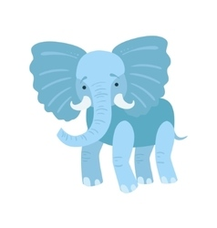 Elephant stylized childish drawing vector