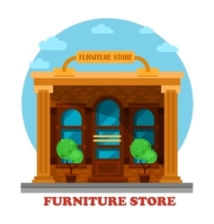Furniture store or shop building facade vector