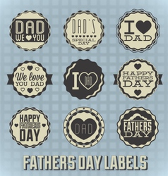 Happy fathers day labels vector