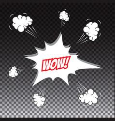 pop art comic speech bubble wow vector image
