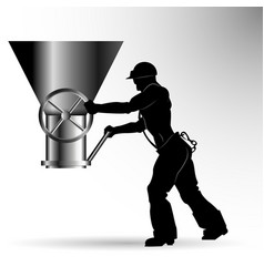 silhouette of the worker vector image